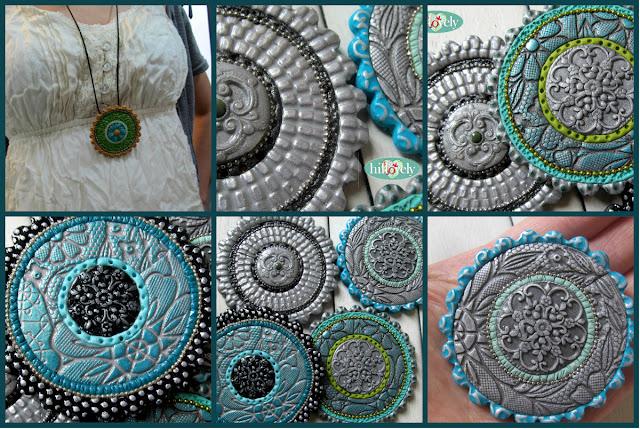 hillovely,hilla bushari, fimo pendant,polymer clay pendant, fimo jewelry, polymer clay jewelry,