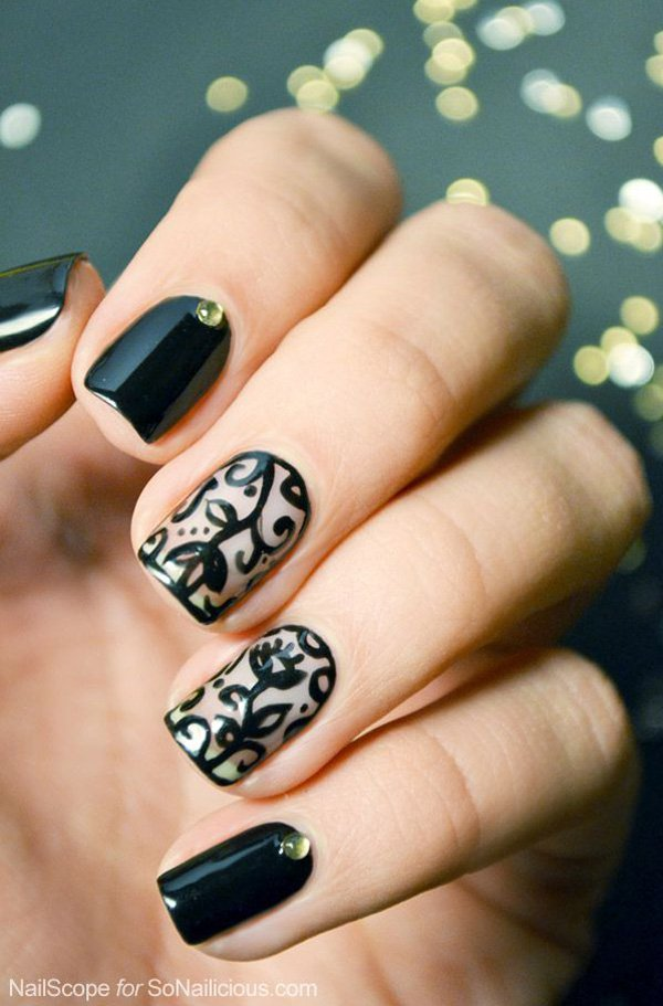 40 BLACK NAIL ART IDEAS 2016 | Fashion Newby\'s