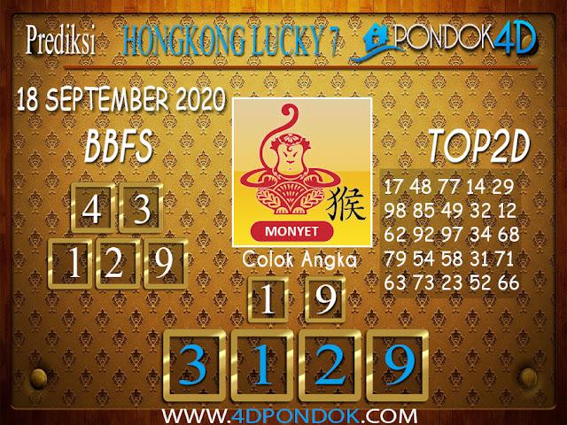 Prediksi Togel HONGKONG LUCKY 7 PONDOK4D 18 SEPTEMBER 2020