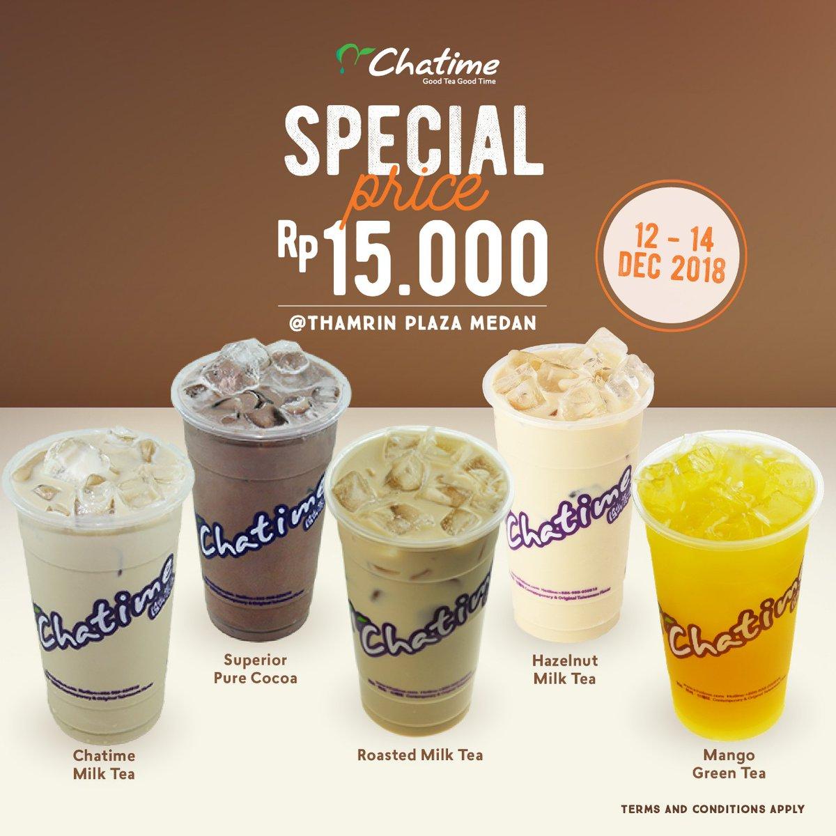 Chatime - Promo Special Price 15K di Thamrin Plaza Medan (s.d 14 Des 2018)