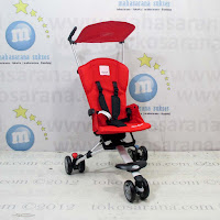 Kereta Bayi LightWeight CocoLatte CL08 iSport Red New