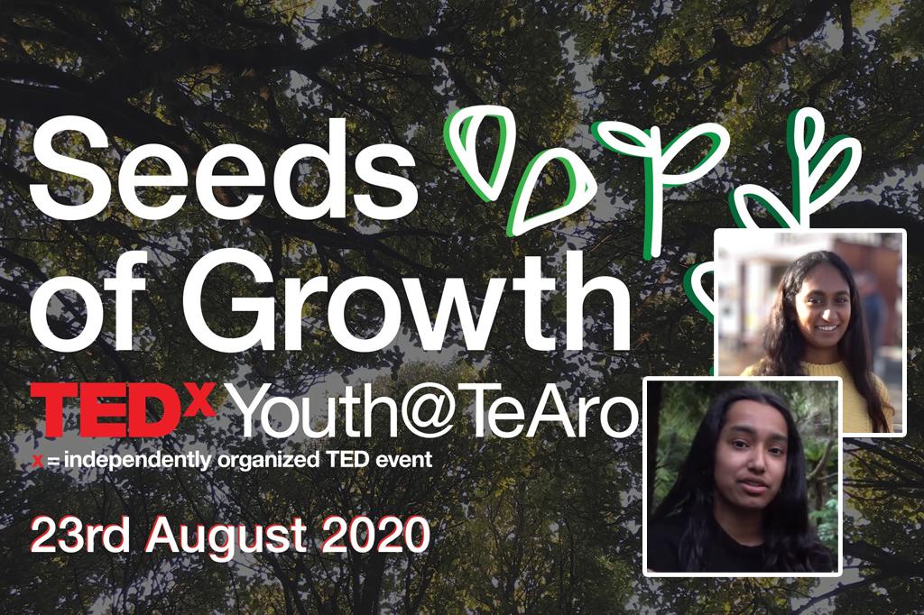 Simone & Imali on 'Seeds of Growth' at TEDxYouth TeAro 2020