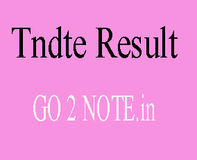 TNDTE RESULT APRIL 2018