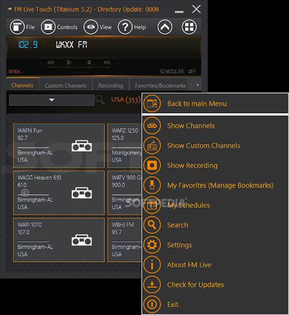 شرح + تحميل برنامج راديو اف ام للكمبيوتر FM Live 5.2