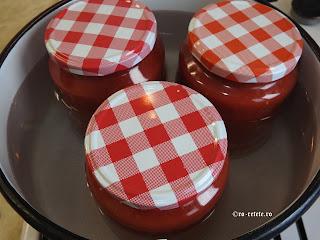 Fierberea borcanelor de rosii reteta de casa retete conserve pentru iarna cu legume,