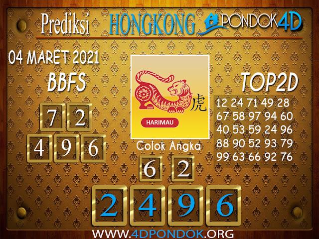 Prediksi Togel HONGKONG PONDOK4D 04 MARET 2021
