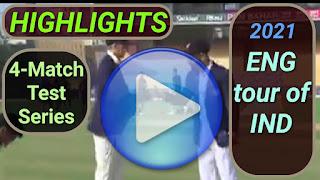 India vs England Test Series 2021