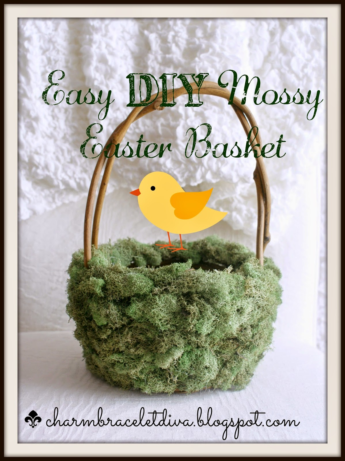 Easy DIY Mossy Easter Basket