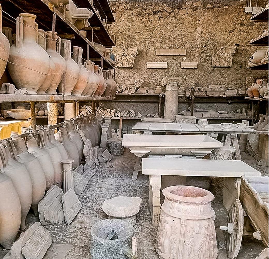 Ruins in Pompeii Italy