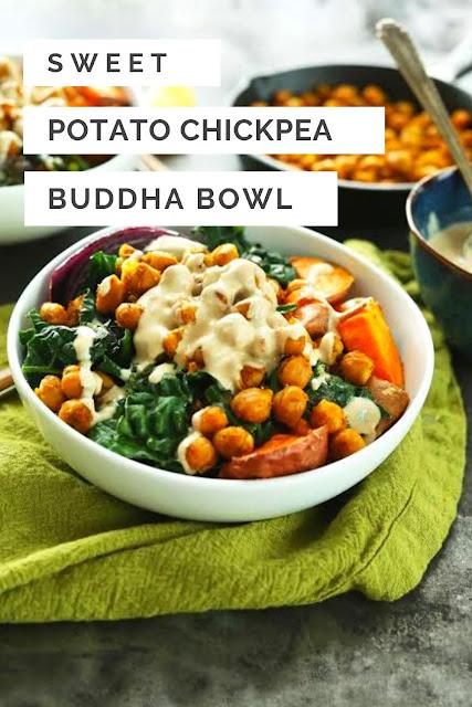 Sweet Potato Chickpea Buddha Bowl ( Vegan )