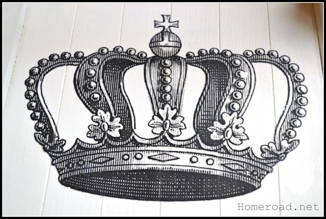 crown design on the chair