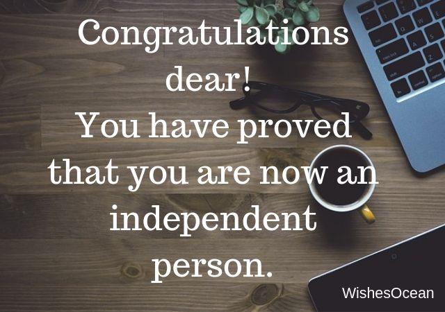 Congratulation Dear You Have Proved