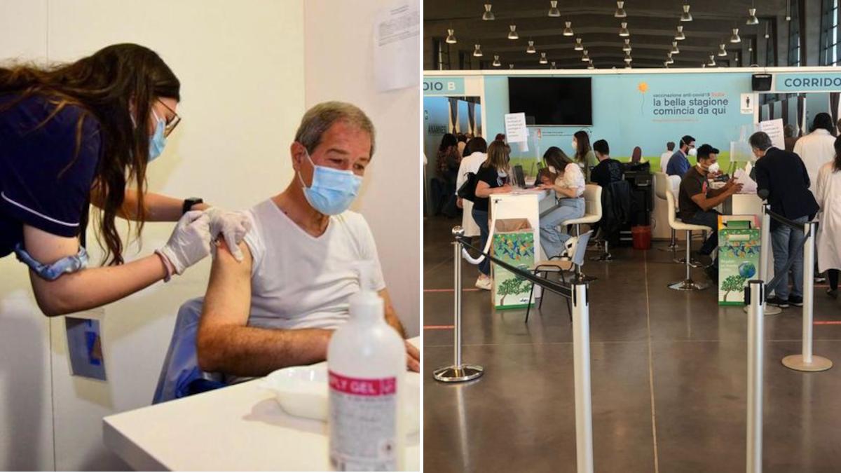 Vaccini record somministrazioni vaccino AstraZeneca Musumeci hub Catania