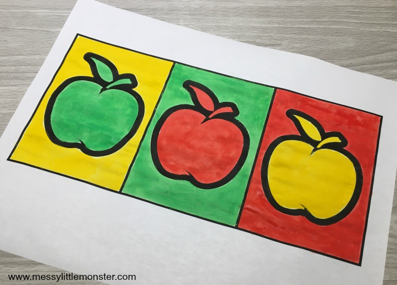 pop art apple printable