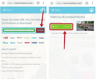 Melalui browser chrome