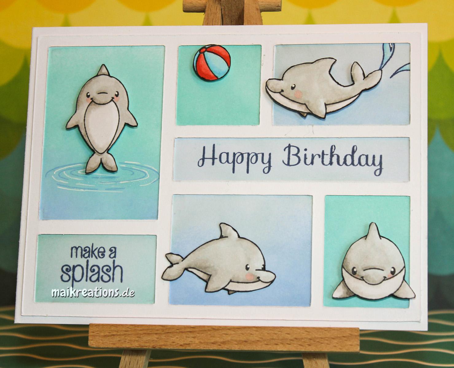 maikreations: Make a Splash (birthday card / Geburtstagskarte)