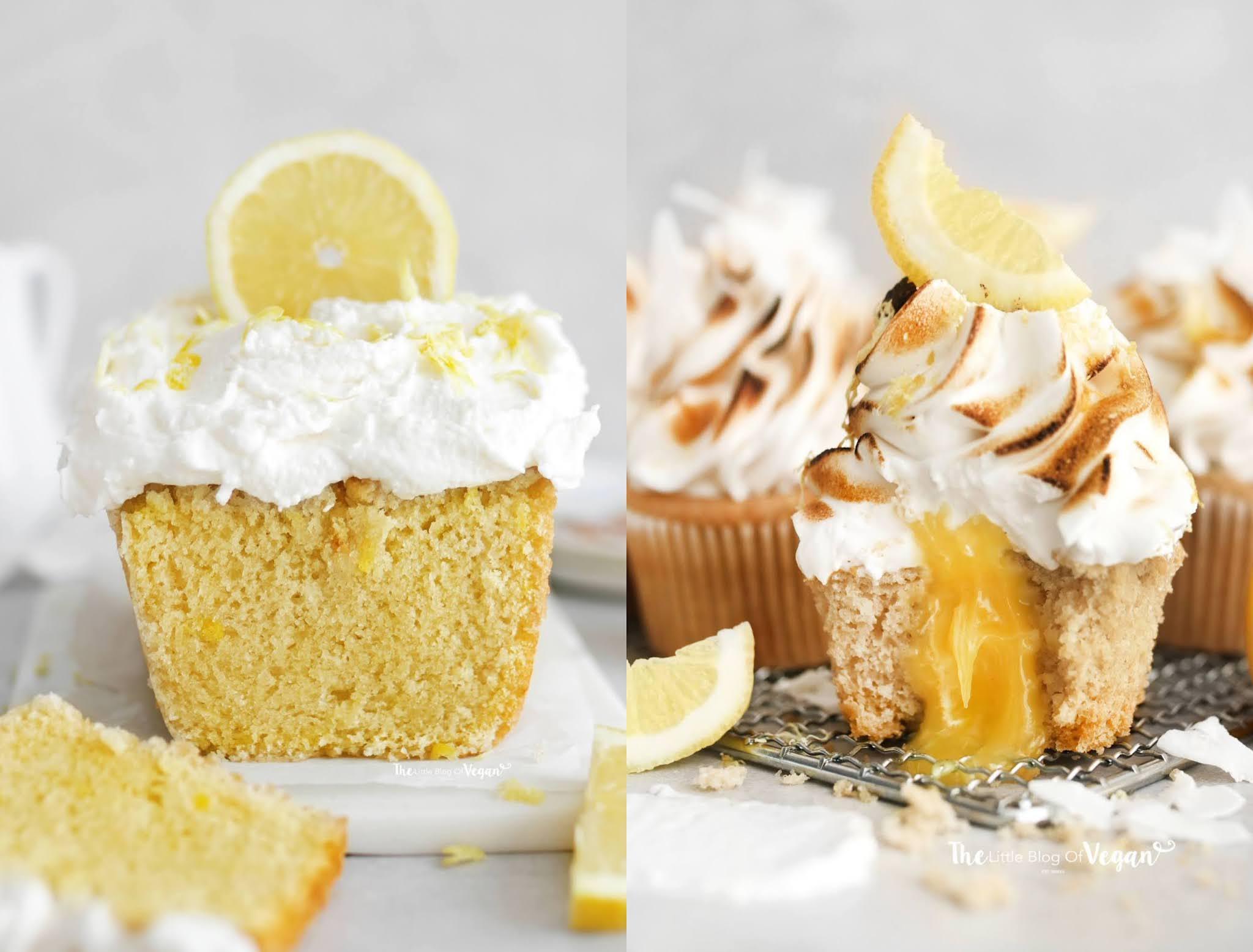 Vegan Lemon. cupcakes and Lemon Loaf Cake