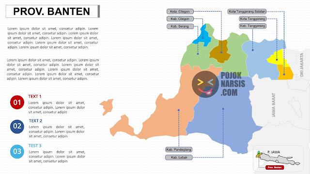 template peta provinsi banten ppt