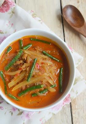 Resep sayur ketupat labu siam dan kacang panjang
