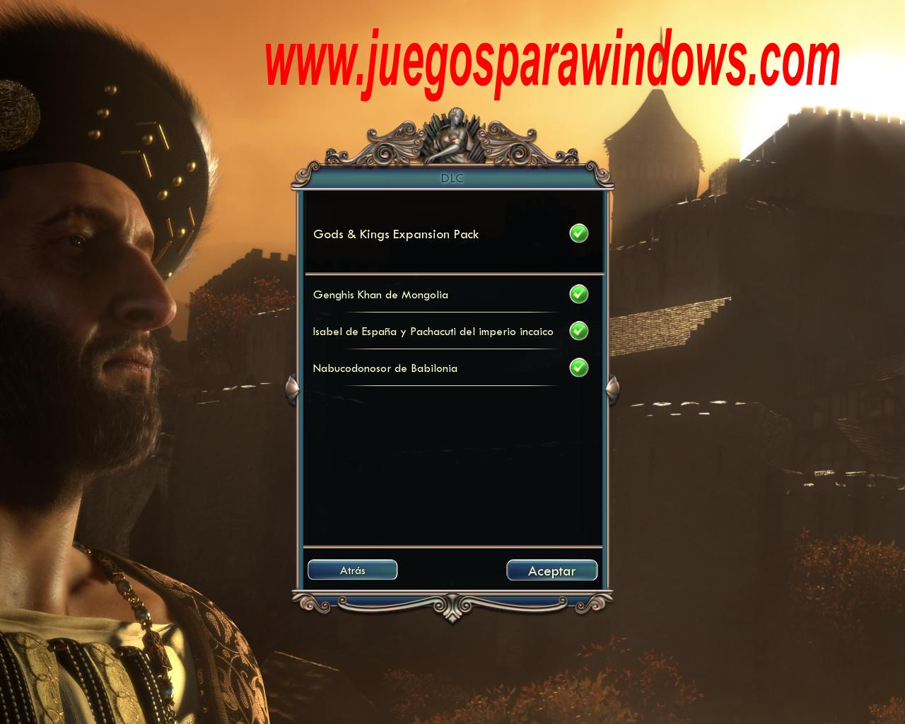 Sid Meier's Civilization V Gods and Kings Imagenes PC Instalacion
