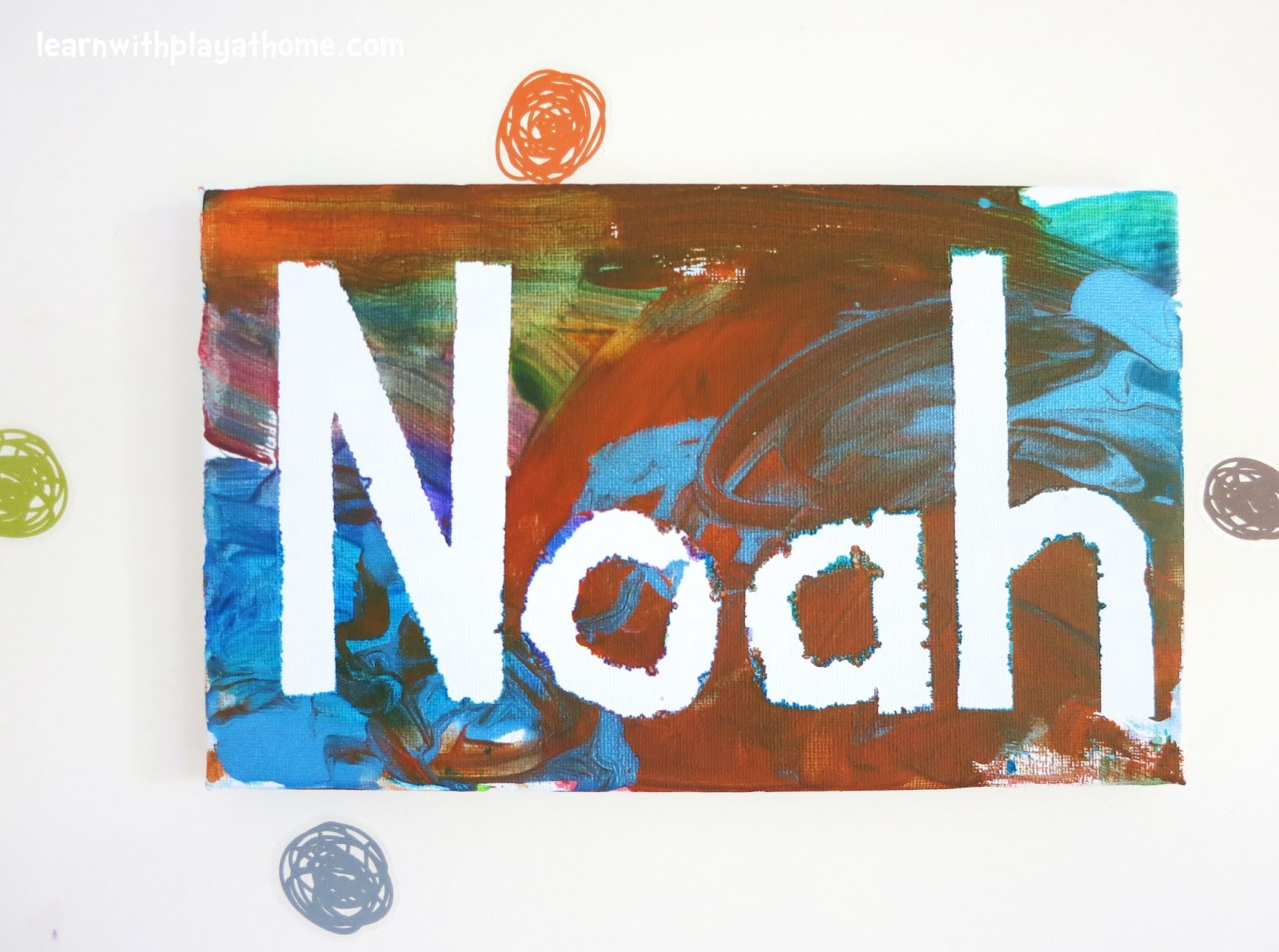 Name Art: Learn With Play At Home: Easy Toddler Name Art