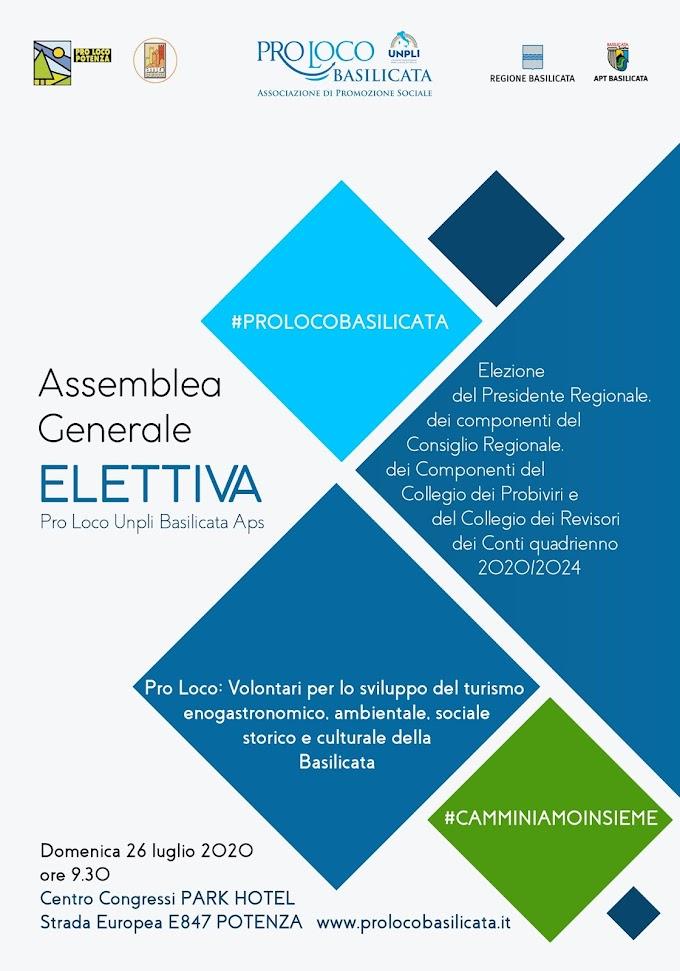 A Potenza l'assemblea generale elettiva Pro Loco Unpli Basilicata Aps