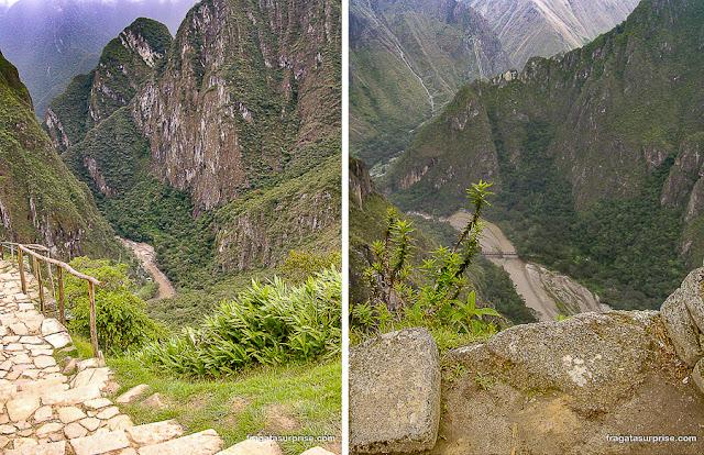 O Rio Uribamba visto de Machu Picchu, Peru