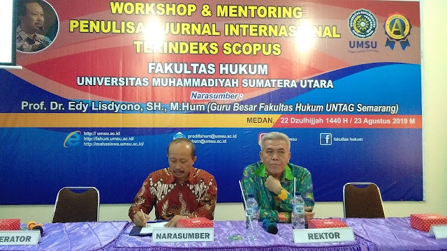 Workshop dan Mentoring Penulisan Artikel Ilmiah pada Jurnal Internasional Terindeks Scopus