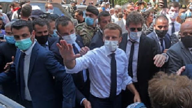 French President Emmanuel Macron offered France's support for the Lebanese people