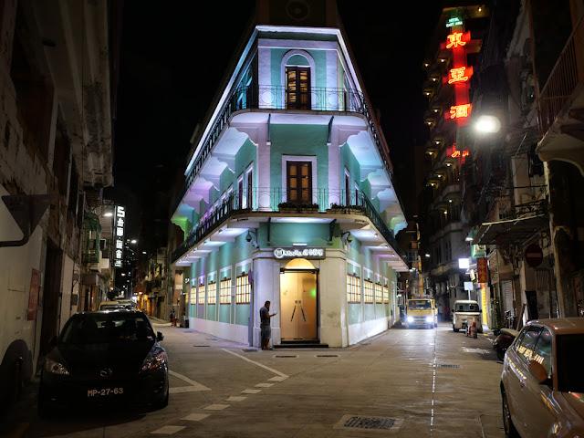 Mocha Inner Harbour casino in Macau at night