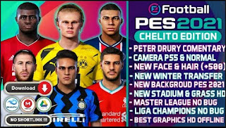 Download PES 2021 Chelito PPSSPP High Graphics Camera PS5 Fix cursor & New Transfer Winter