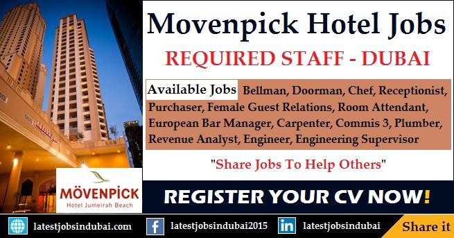 Movenpick Hotel jobs in Dubai 2017