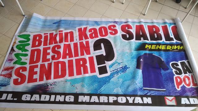 Spanduk Nama Toko Kaos Sablon
