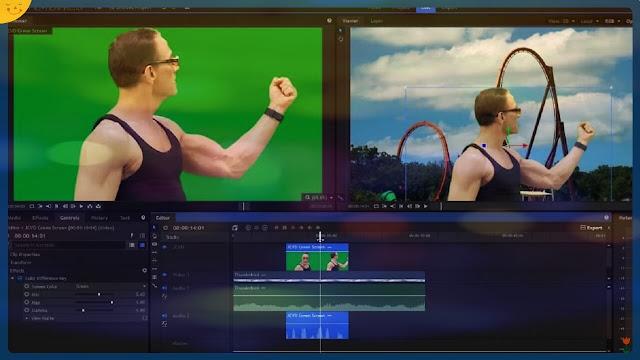 ازالة الكروما الخضراء شرح كيفية حذف الخلفية الخضراء من Filmora9 دورة تعلم و احتراف برنامج فيلمورا 9