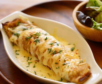 CHICKEN AND MUSHROOM CREPES #lunch #brunch