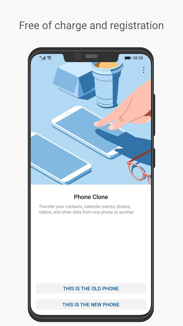 تطبيق Huawei Phone Clone للأندرويد 2019 - صورة لقطة شاشة (2)