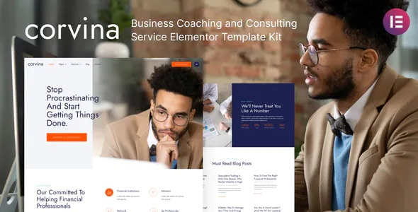 Best Business Coaching and Consulting Service Elementor Template Kit