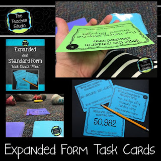 expanded standard form task cards