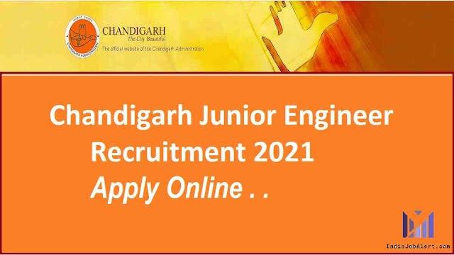 Chandigarh Junior Engineer online Form 2021