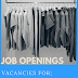 Vacancies in Managerial and Housekeeping Roles.