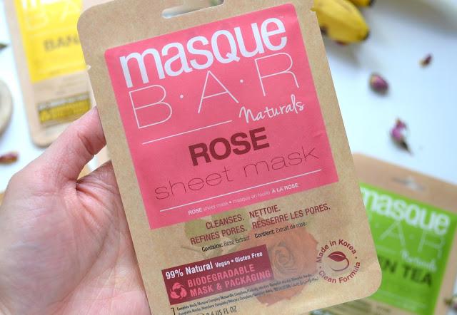 MasqueBAR Naturals Rose Sheet Mask