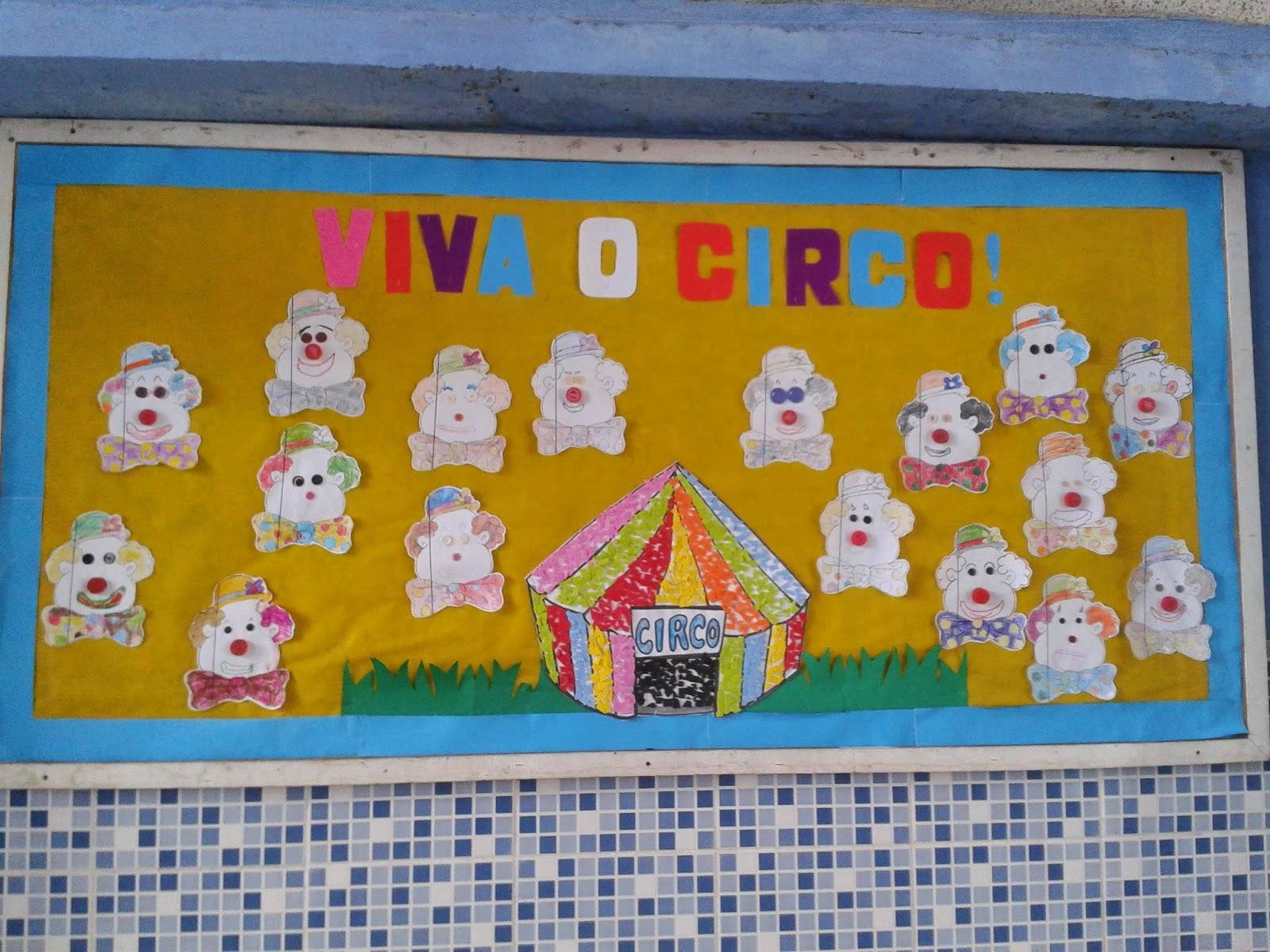 52 Ideias De Murais Para O Dia Do Circo Só Escola