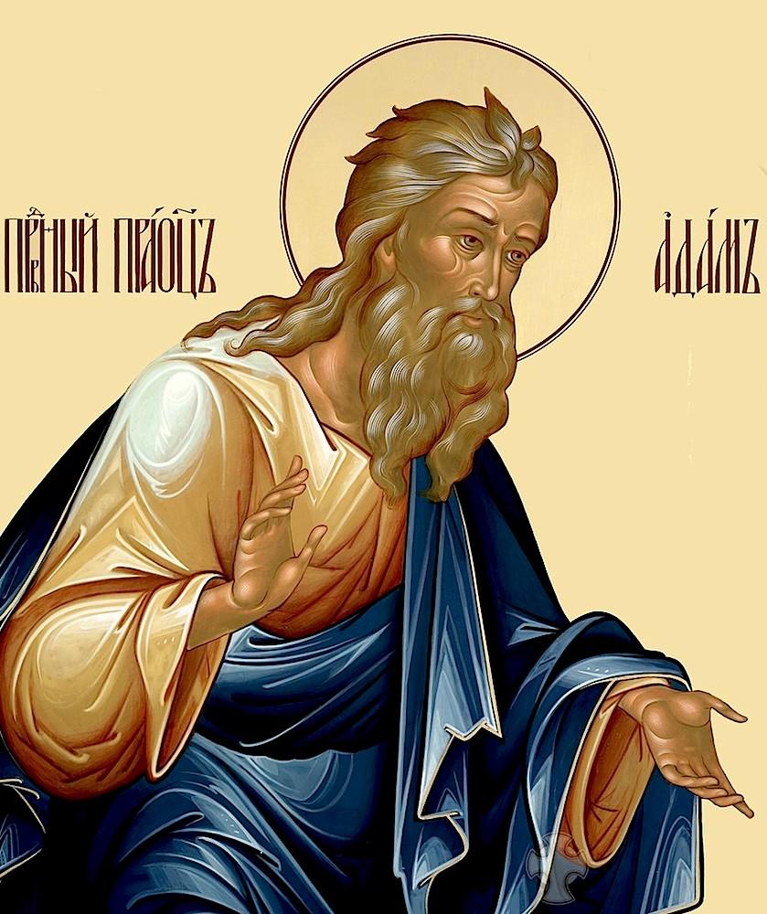Праведный праотец Адам. Современная православная икона.