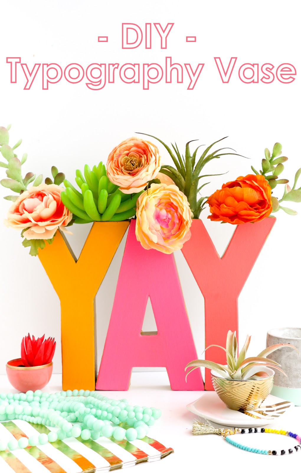 Make Your Own Custom, Oh Joy! For Target Inspired, Typography Vase Using  Cardboard