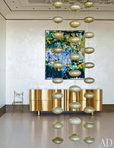 nueva tendencia decorar con dorado
