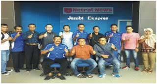 Kunjungan kerja DPC-HIPI Pasaman disambut hangat oleh Redaksi Jambi Ekpres