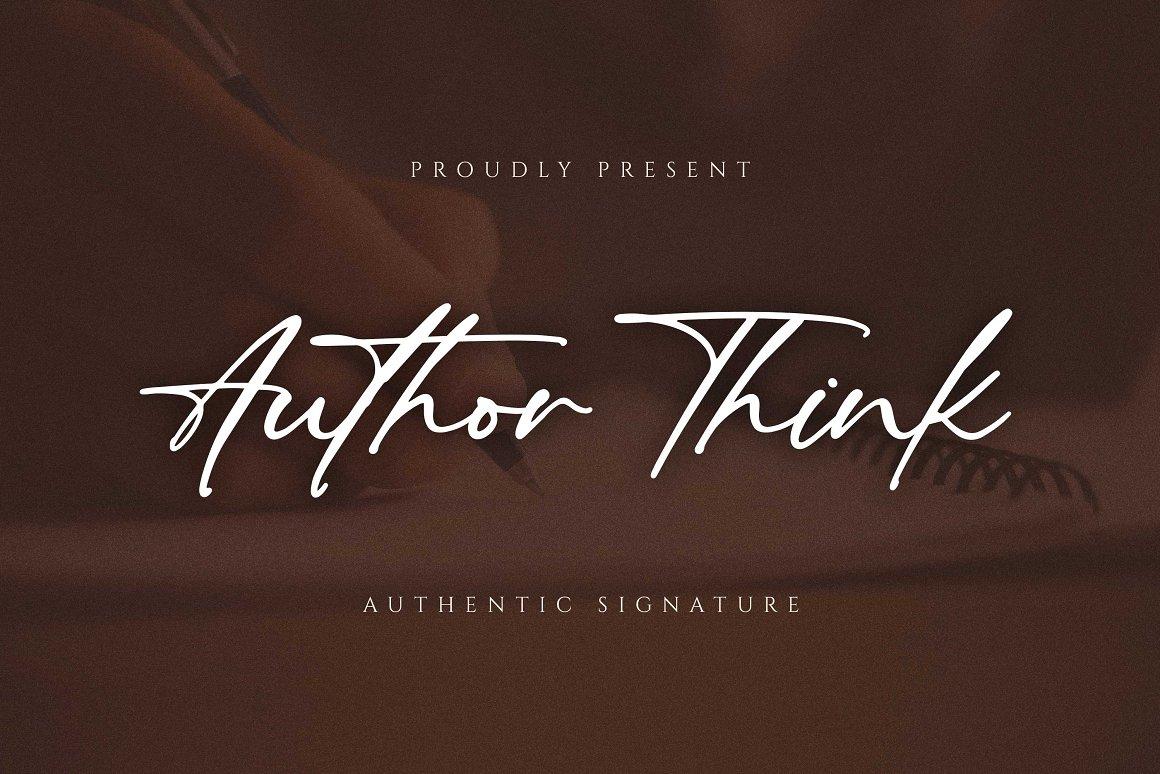 Author Think - Free Handwritten Signature Typeface