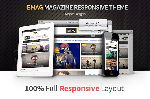 BMAG – Magazine Responsive Blogger Template Free Download