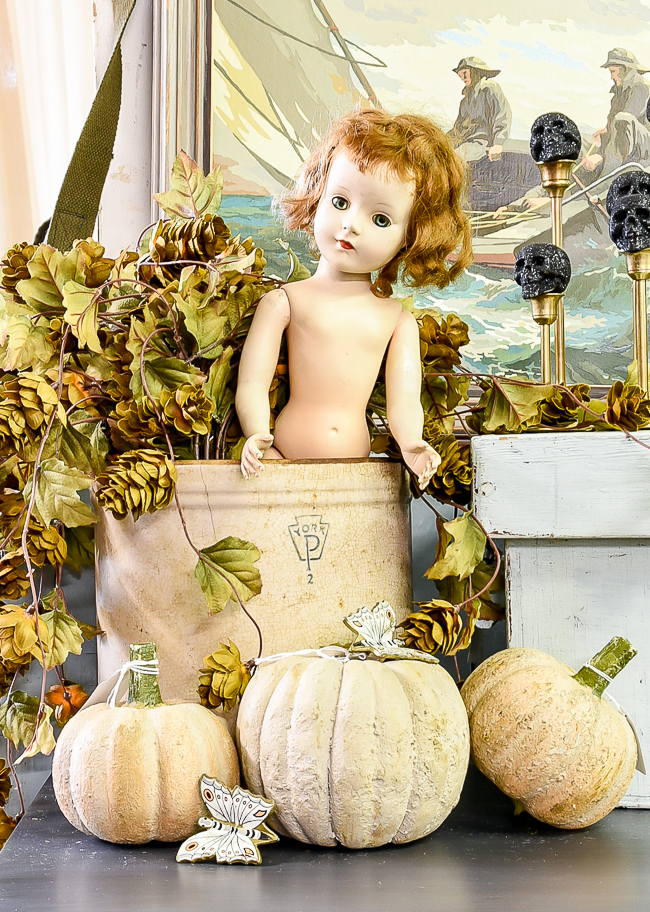 Halloween and fall vintage booth styling