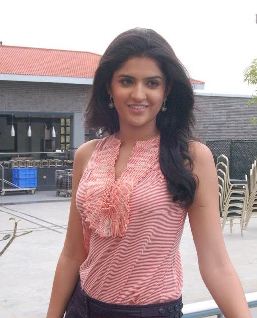 Tollywood Actress Deeksha Seth Pics In Pink Dress Navel Queens